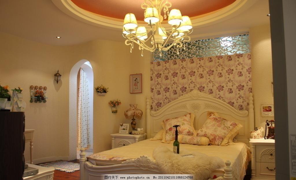 暖色调 简欧 沙发 拱门 雕花 床头背景墙 阳台 园型吊顶 弧形门洞 地