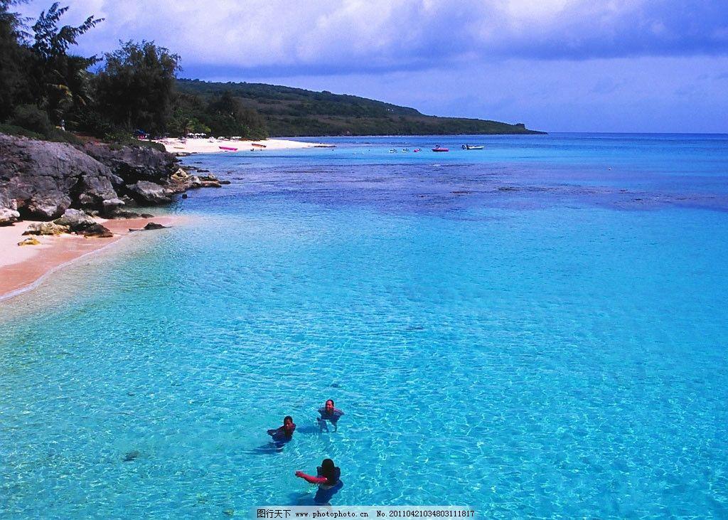 海边沙滩风景 蓝天白云 大海 沙滩 风景      自然风景 自然景观 摄影