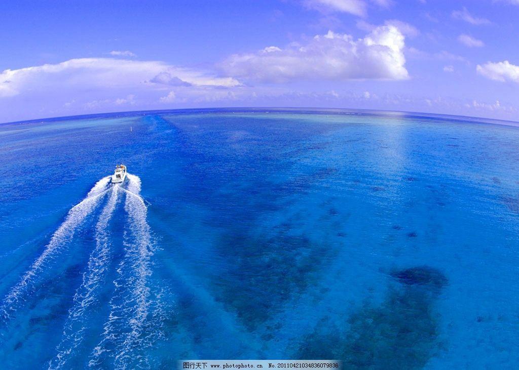 大海 蓝天白云 风景