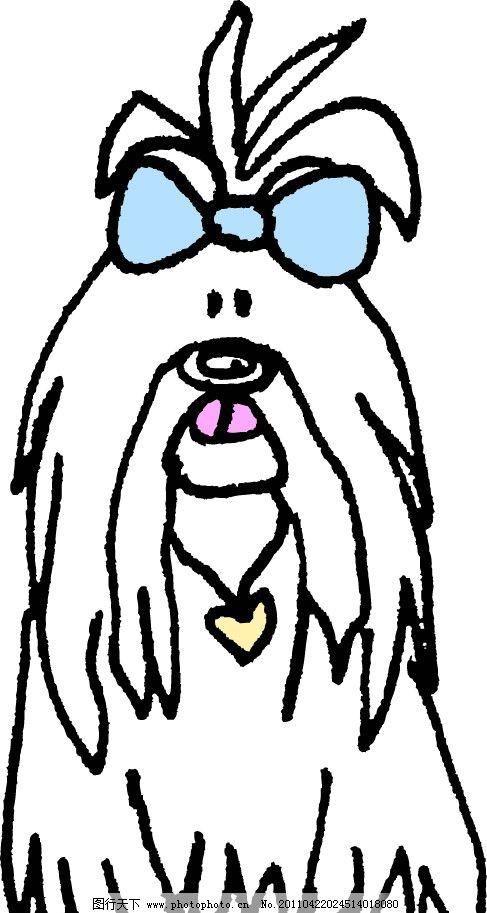 扎头蝴蝶结的小狗图片