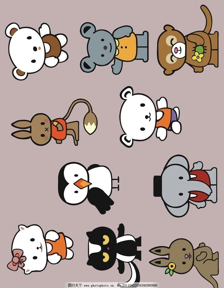 小动物 可爱的小动物 其他生物 生物世界 矢量 cdr