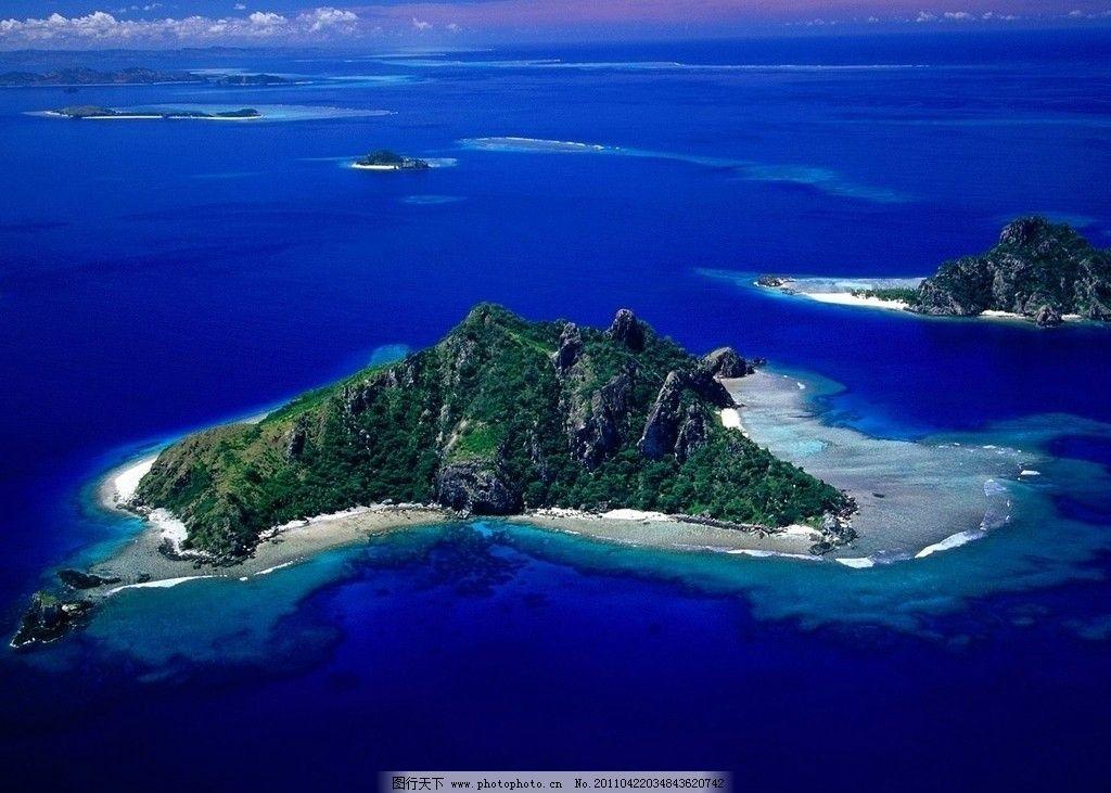 自然风景 斐济鸟瞰图 monu海岛 自然景观 摄影 72dpi jpg