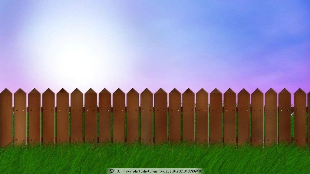 草地 风景漫画
