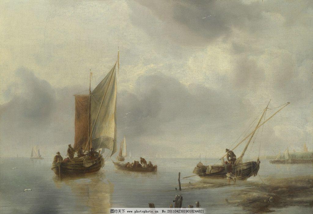 帆船 船舶 海面 油画 风景油画 欧洲油画 欧式油画 珍藏 壁画 精品