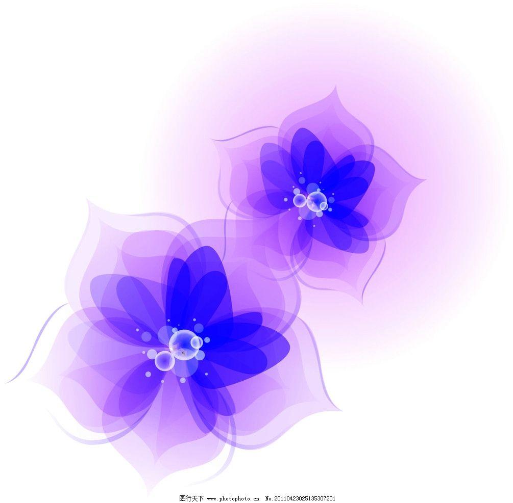 花 紫色花图片
