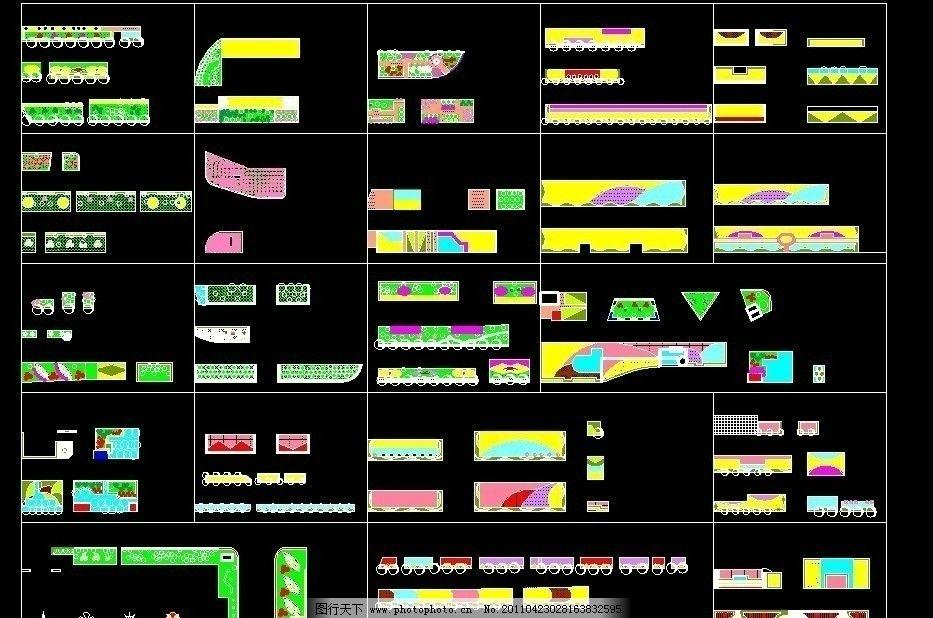 cad规则式模纹模块 cad 规则式模纹 cad模块 cad素材图库 景观设计