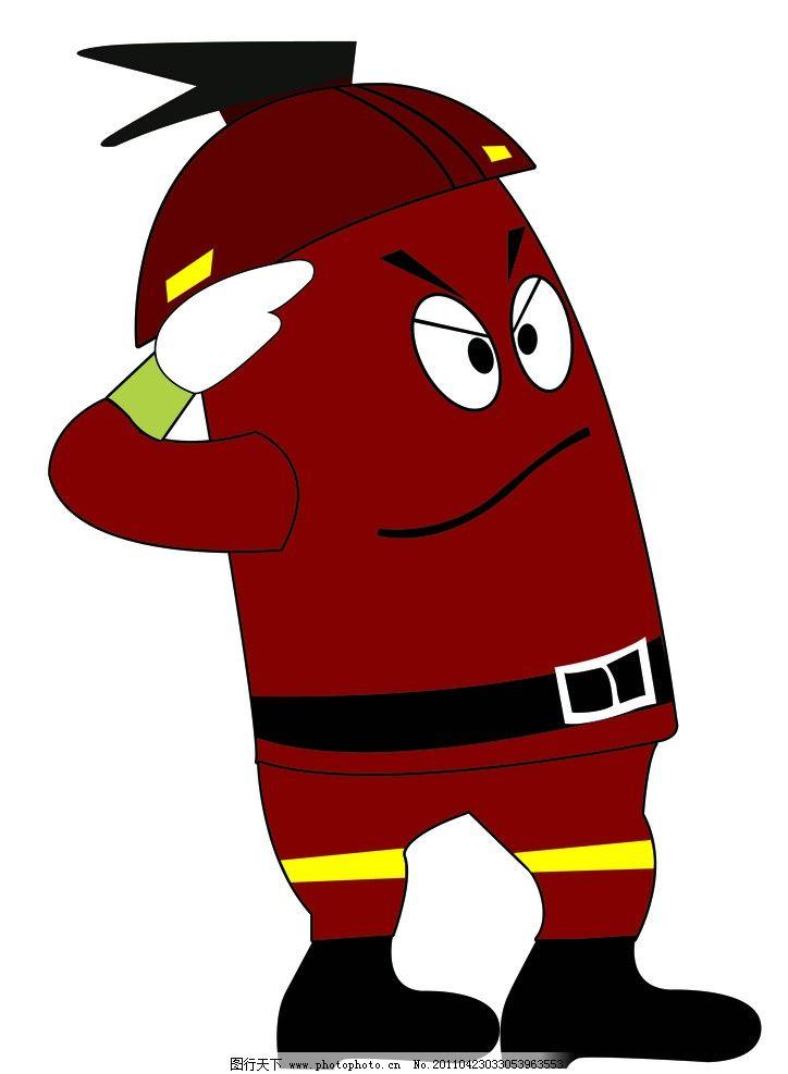 卡通消防栓图片