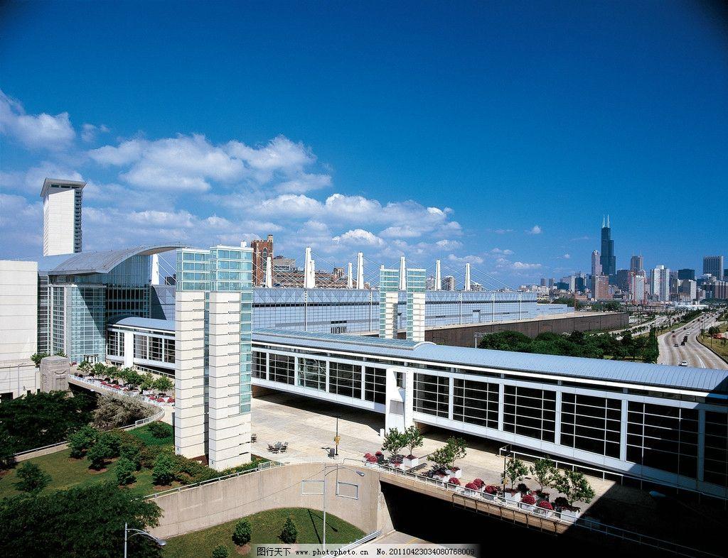 芝加哥/芝加哥蓝天白云 城市美景图片