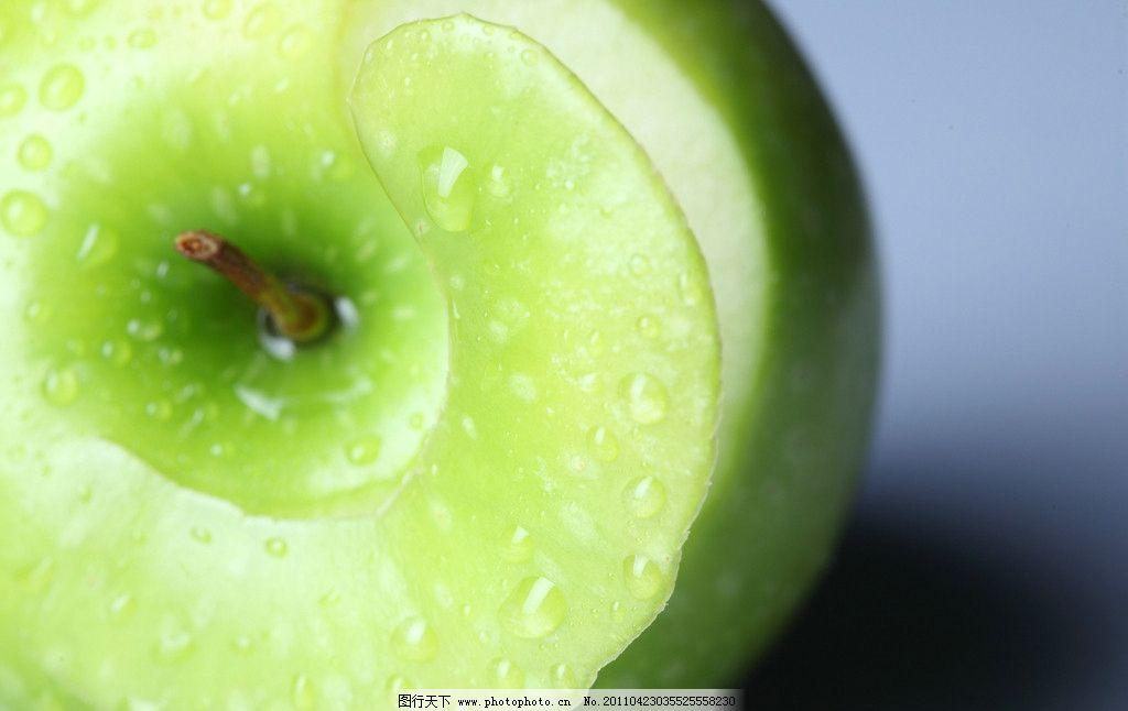 设计图库 环境设计 装饰画  青苹果 苹果 苹果特写 新鲜苹果 新鲜水果