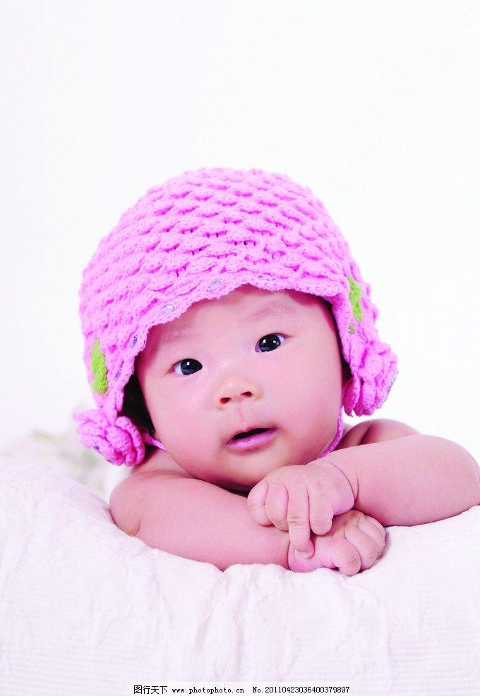 儿童摄影 宝宝 可爱宝宝 帽子 摄影 被子 儿童幼儿 人物图库 300dpi