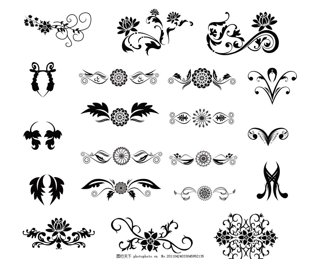 纹身 黑白纹身 潮流 花纹 心形翅膀 墨迹 情人节元素 爱情 源文件库