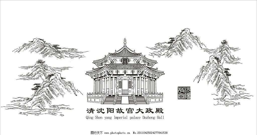 北京故宫手绘画