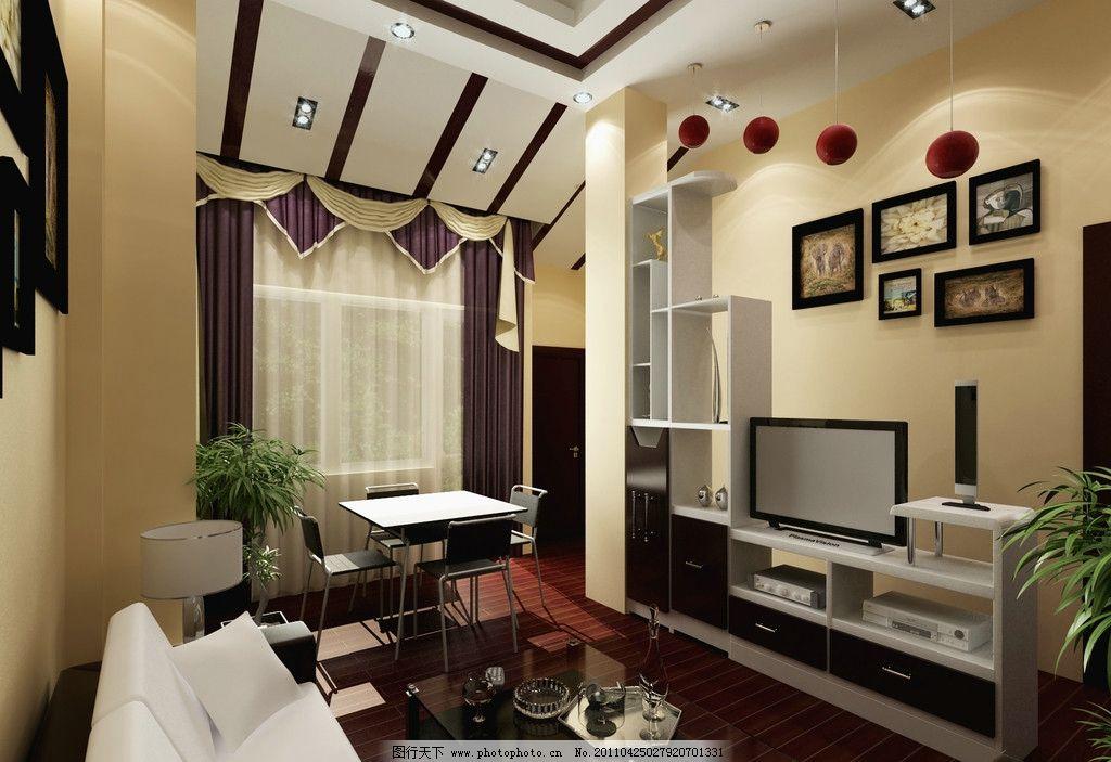 别墅茶室 茶室 起居室 电视背景墙 吊顶 窗帘 地板 新隆别墅简装 室内