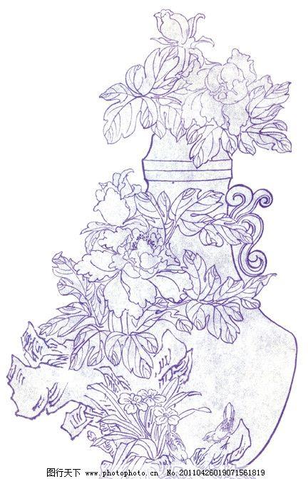 线描花鸟简笔画