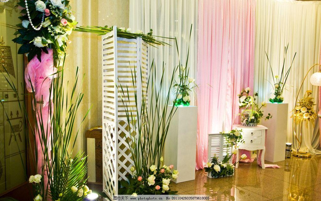 婚礼场地 舞台 酒店 布置 结婚 婚礼 迎宾区 花艺 节日庆祝 文化艺术