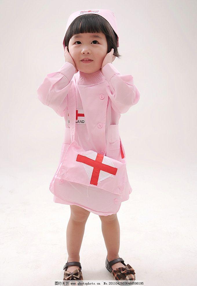 超级可爱的小小护士 护士 女童 2岁 宝宝 可爱 娃娃 小小护士 儿童