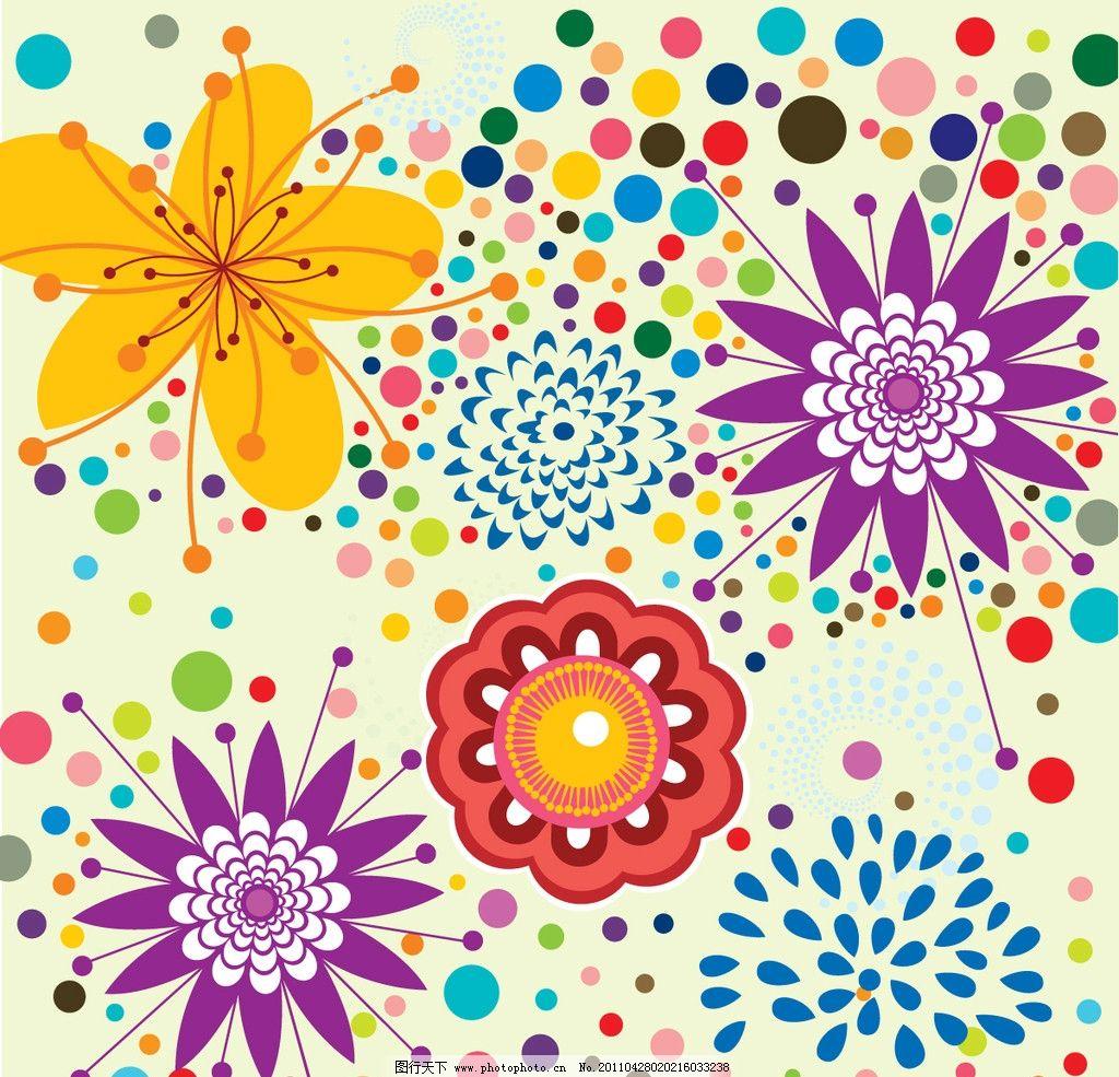 手绘花纹背景 花卉 花卉背景矢量 花朵 图案 时尚底纹 传统底纹