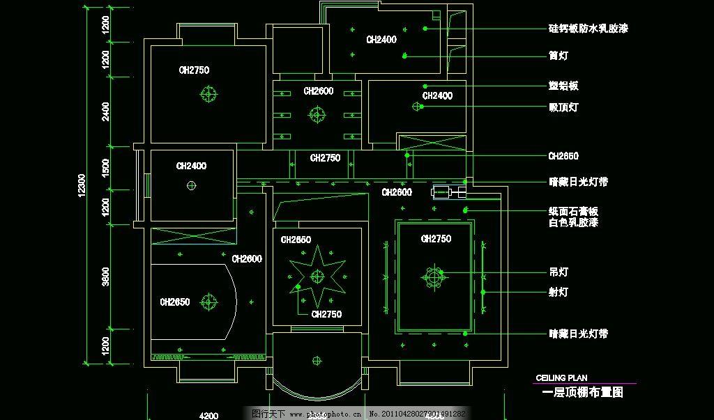 cad之复式住宅 图纸 平面图 装修 装饰 施工图 厨卫 客厅