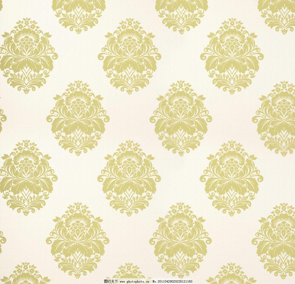 欧式花纹布纹墙纸图片