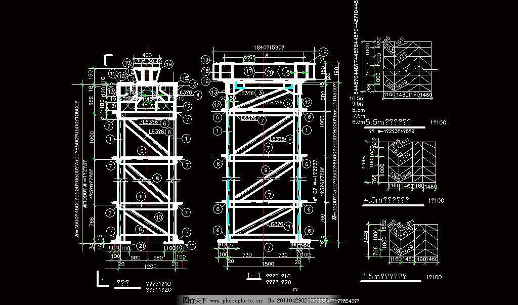 素材 装修 装饰 施工图 钢结构 网架 桁架 节点 钢骨 钢格 圆钢 钢管