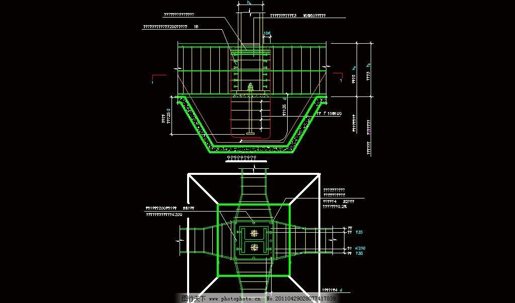 钢结构埋入式刚性柱脚构造图片