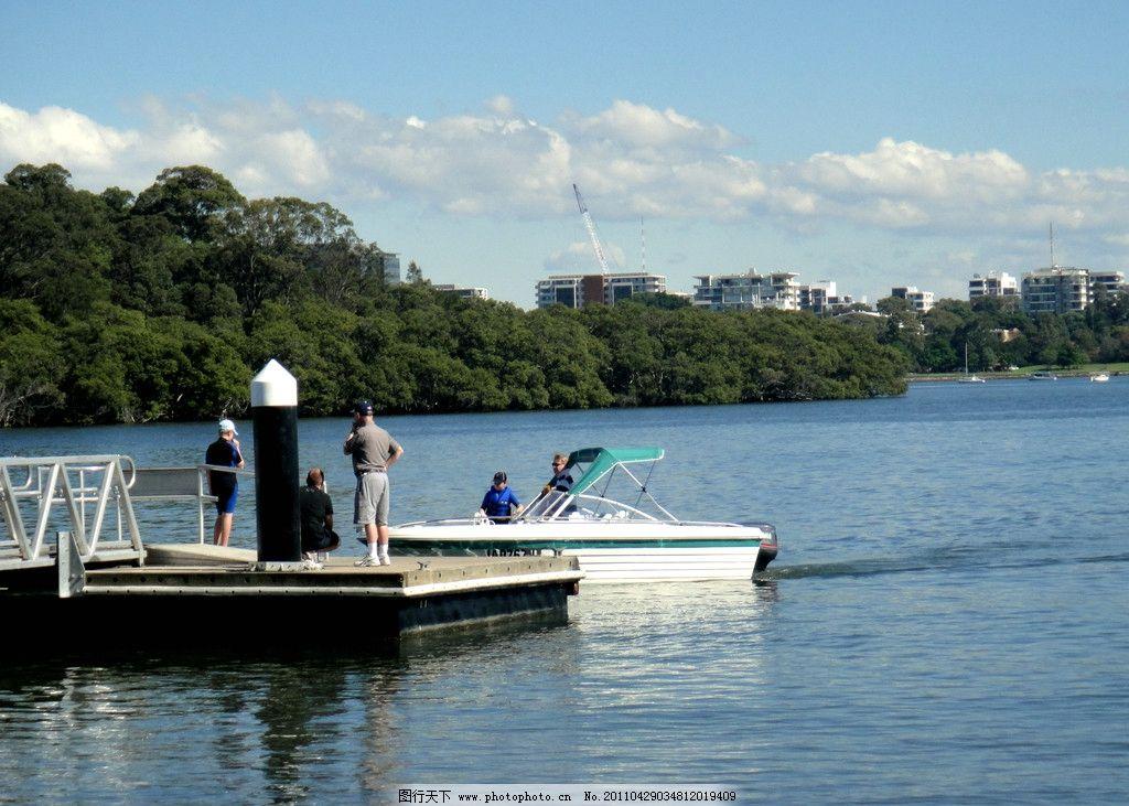 小码头 河流 悉尼 帕玛河 船 小船 风景 河湾 小舟 河上风光