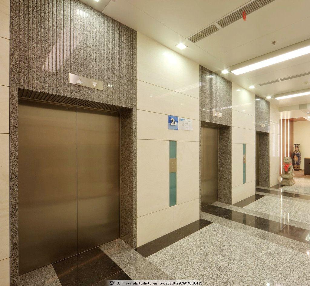 设计图库 环境设计 建筑设计  高速电梯 电梯 商务 办公楼 大厅 写字