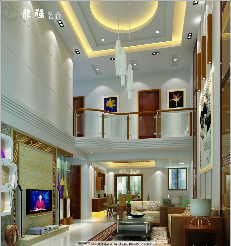复式楼客厅设计效果图图片