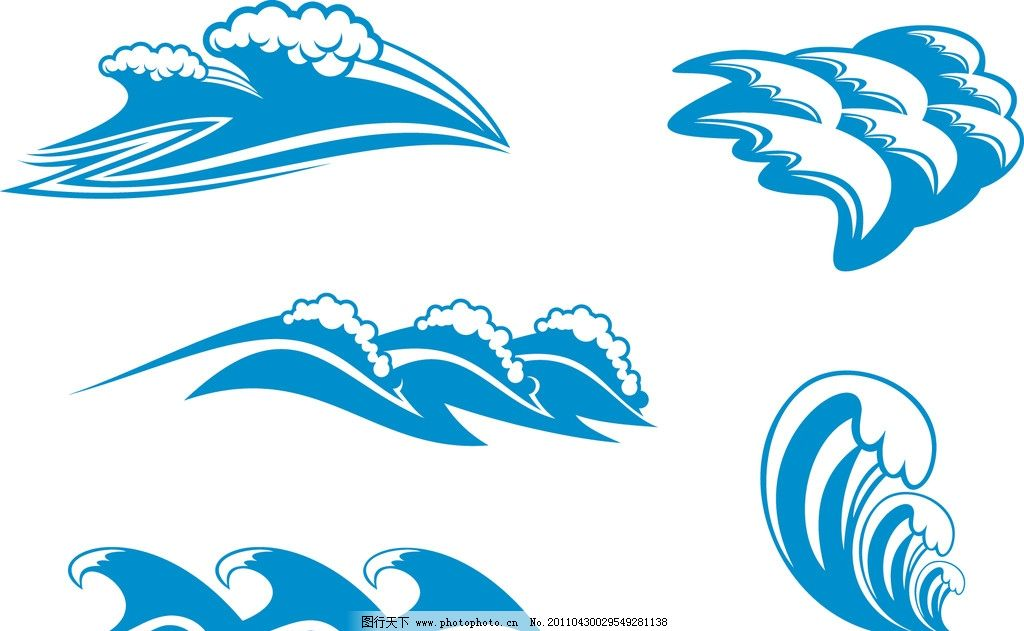 各种水流的形状 水波纹