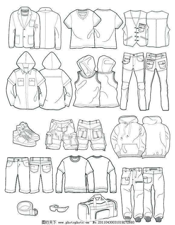 女童款式图 款式图 男童服装 男童服饰 童装服饰 t桖 衬衫 七分裤