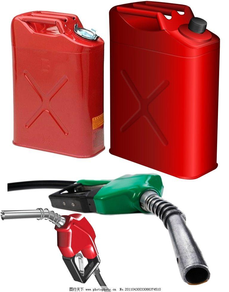 加油站汽油 加油 油桶