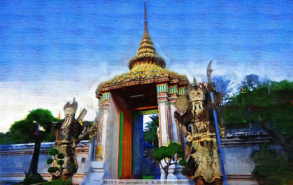 东南亚风情寺庙建筑图片