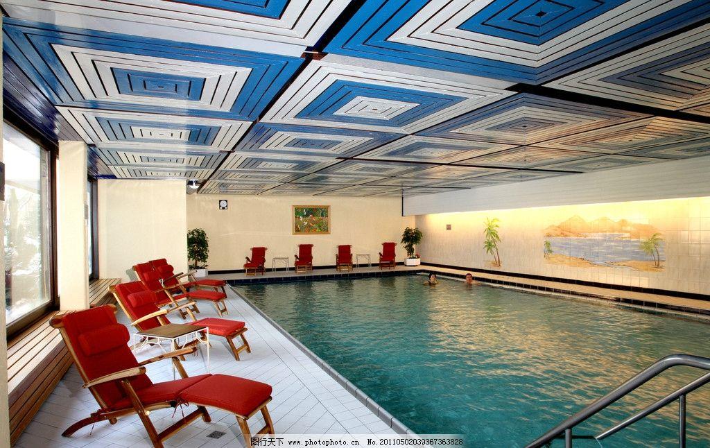 豪华游泳池 酒店设计 五星级酒店 室内游泳池 游泳馆 水池 会所设计
