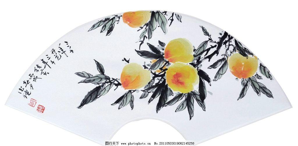 桃子 邱德镜 寿桃 国画 水墨画 树 国画作品 绘画书法 文化艺术