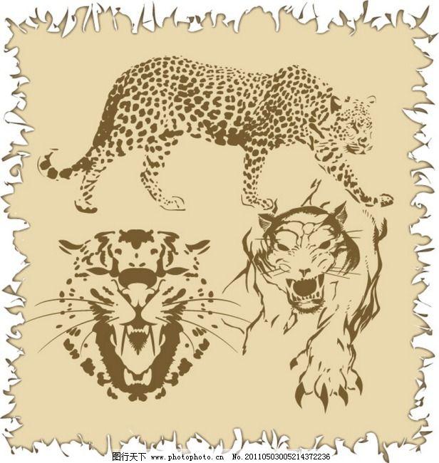 黑豹 其他设计 豹图案 印花 服装印花 绣花 服饰图案 服装图案 动物