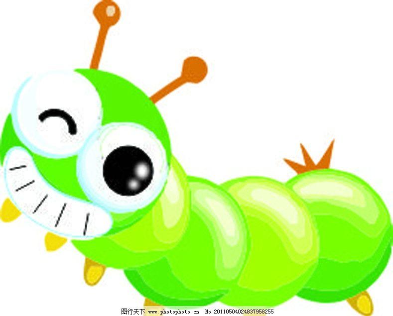 昆虫 虫子 小虫 卡通昆虫 卡通虫子 可爱虫 绿虫 矢量