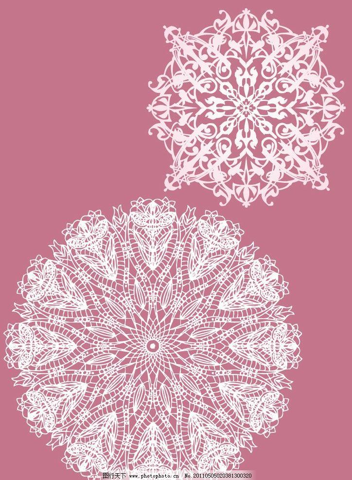 手绘刺绣花纹图案