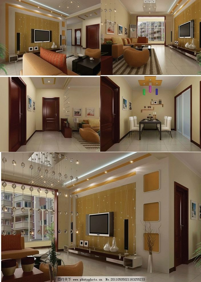 奥林新城经济住宅楼装修设计图图片