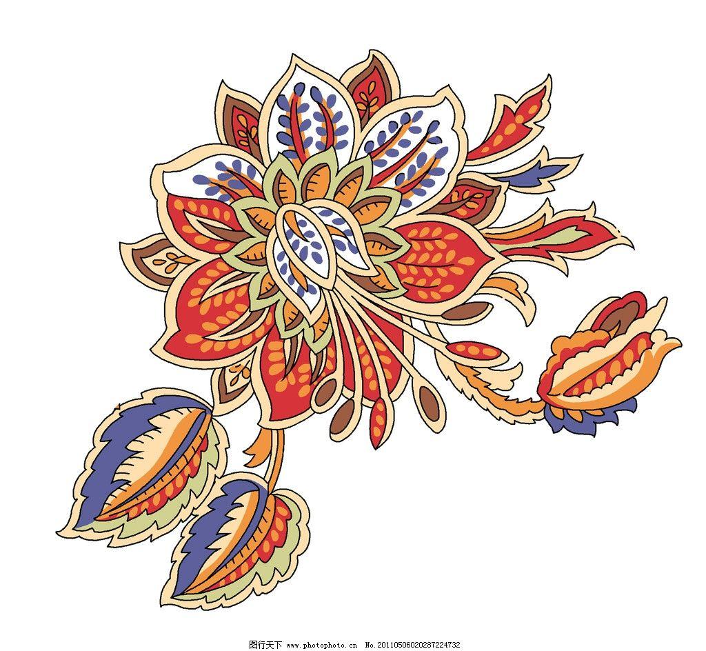 复古 花纹 中式 古典 碎花