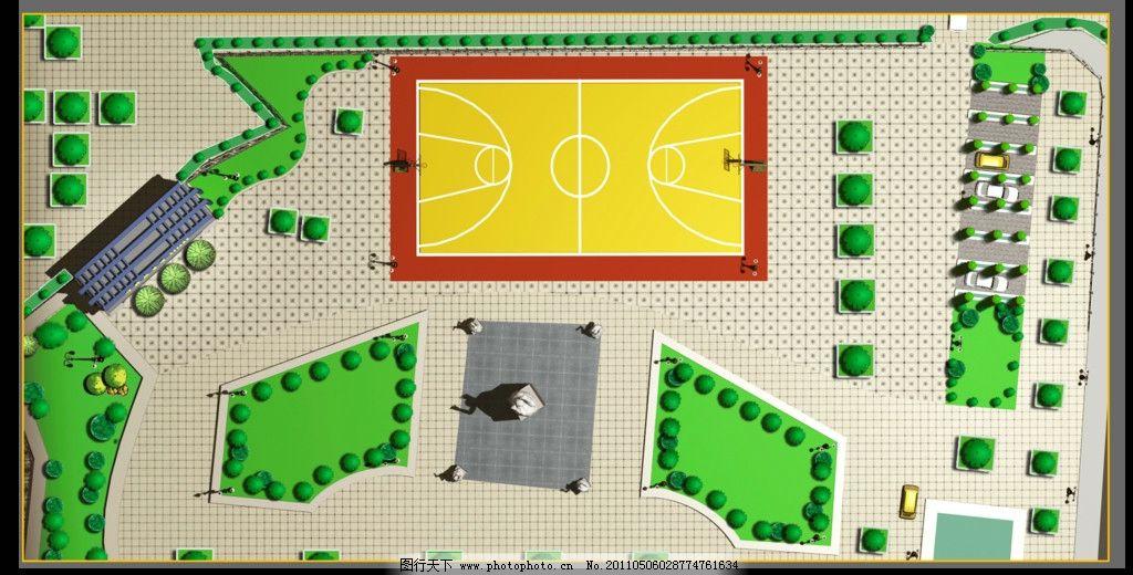 小区广场psd分层平面图 psd 小区广场 分层素材 平面图 顶视图 俯视图图片