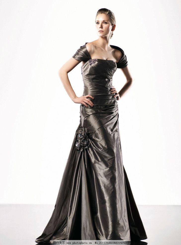 礼服美女 礼服 晚礼服 婚纱 高贵 连衣裙 典雅 女性女人 人物图库
