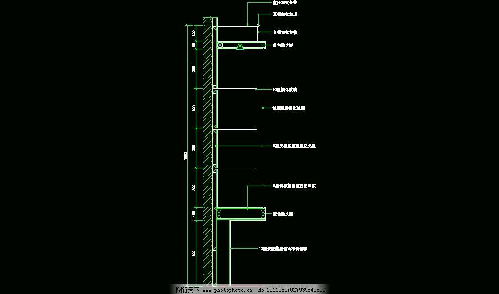 cad展柜电路图