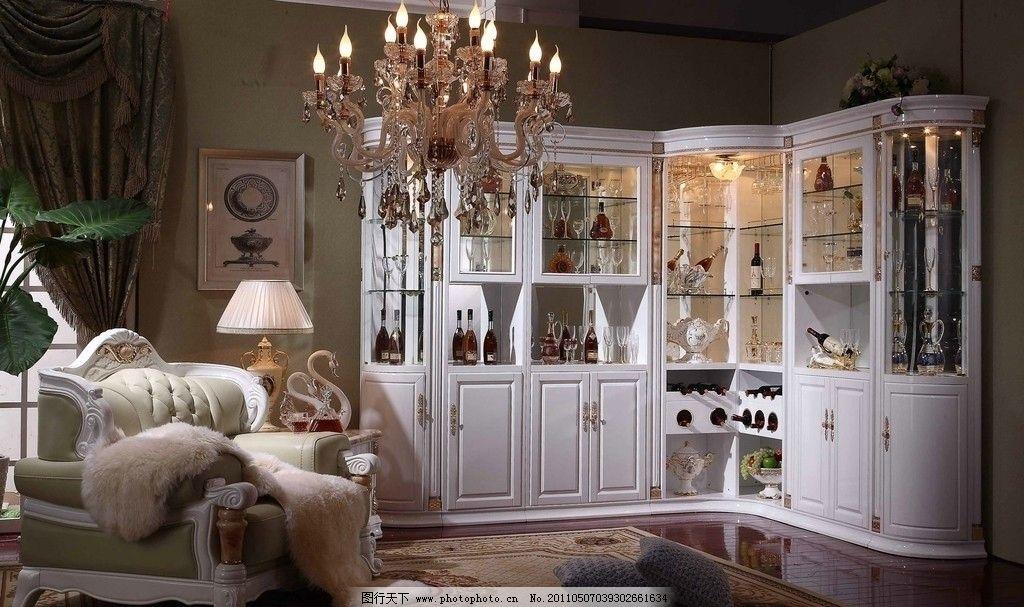欧式家居 吧柜 酒柜 花 窗帘 地柜 柚 组合柜 客厅高档卧室 衣柜 装饰