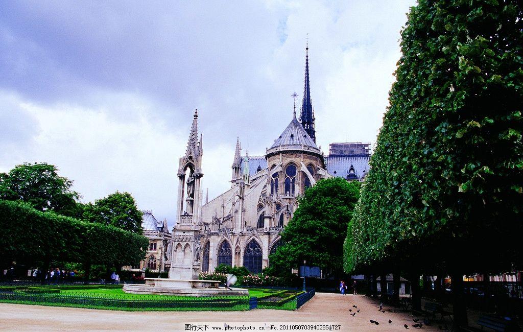 欧式建筑 高楼 欧洲风格建筑 蓝天 白云 建筑摄影 建筑园林