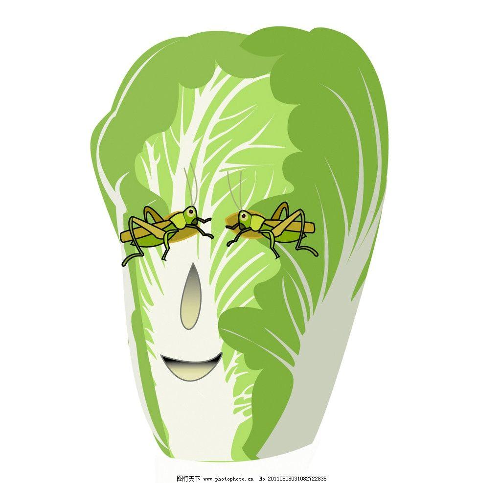 白菜脸谱设计图片