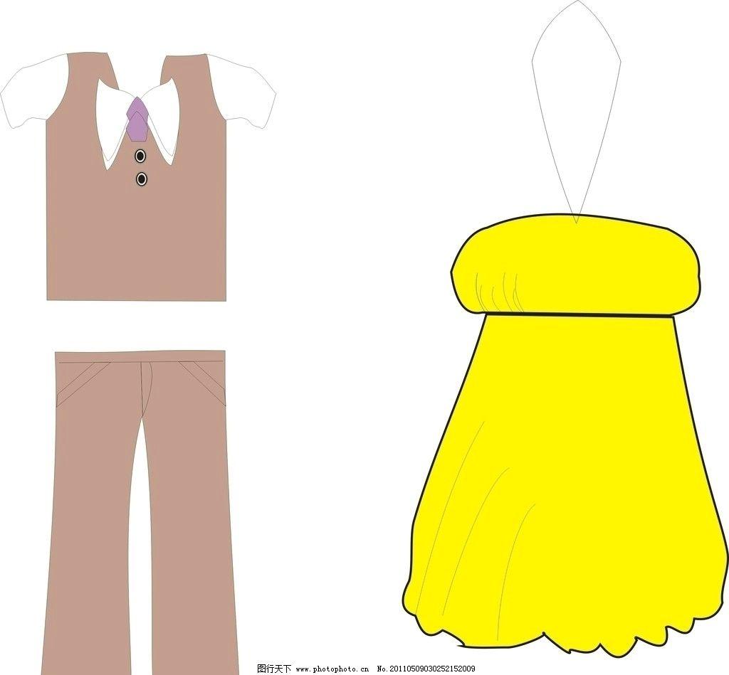 衣服 裤子 裙子 黄色 dm宣传单 广告设计 矢量 cdr