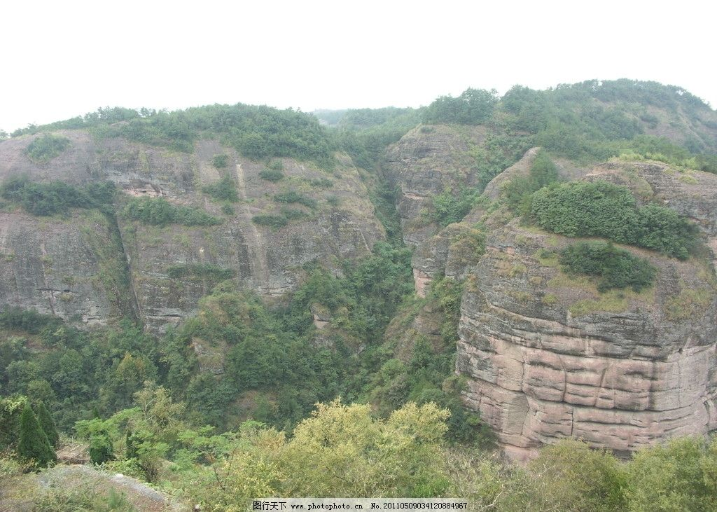 永康方岩的风景图片