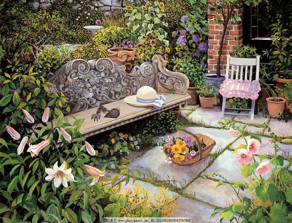 手绘图案 花园