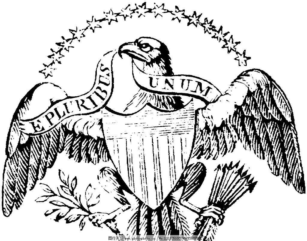铅笔画老鹰图片
