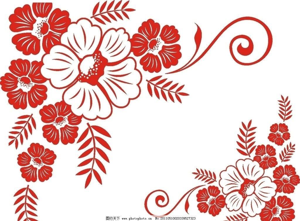 花瓣枝叶花蕊 花纹花边 底纹边框 矢量 cdr